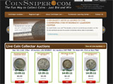 CoinSniper.com is the first numismatic Penny Auction on the Internet