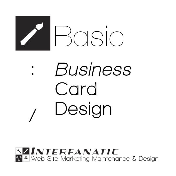 Interfanatic Basic Business Card Design