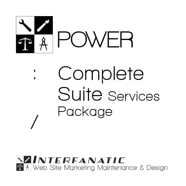 Interfanatic Power Complete Suite Services Web Site Digital Marketing Package