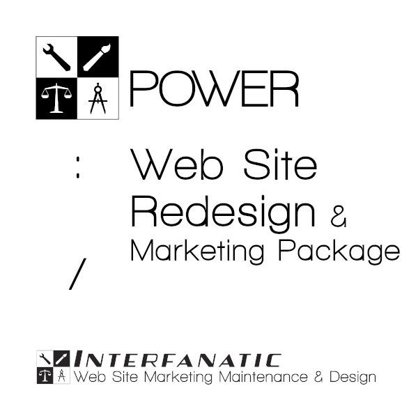 Interfanatic Power Website Redesign Marketing Package