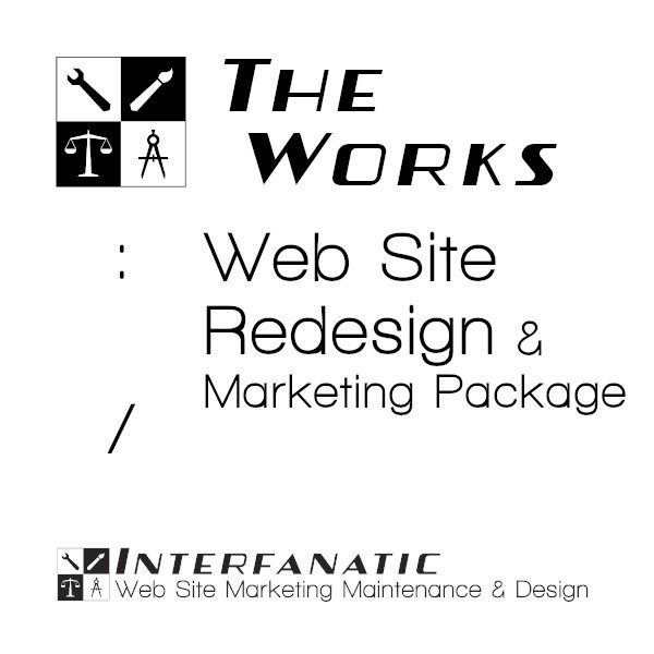 Interfanatic The Works Website Redesign Marketing Package