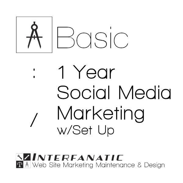1 Year Interfanatic Basic Social Media Marketing with Set Up