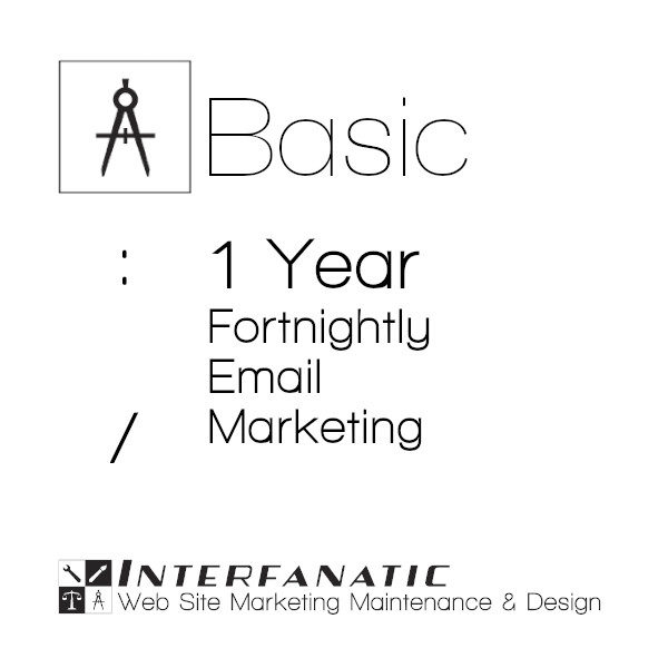 Interfanatic Basic Fortnightly Email Marketing, 1 Year