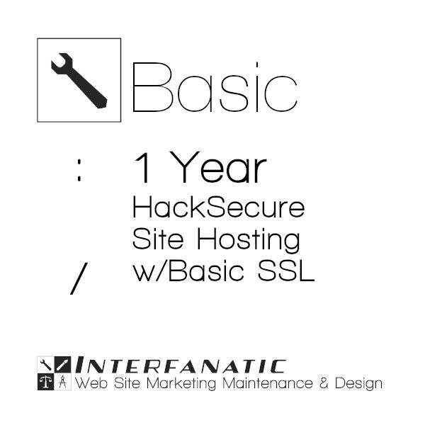 1 Year Interfanatic Basic HackSecure Site Hosting