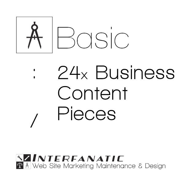 24 Interfanatic Basic SEO Business Content Pieces