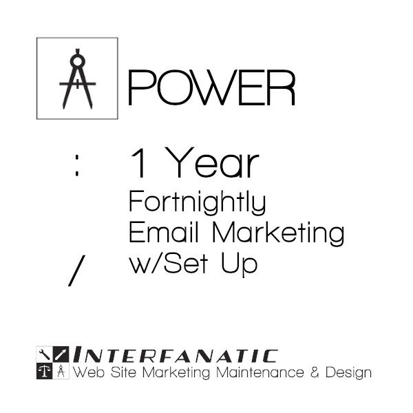 1 Year Interfanatic Power Fortnightly Email Marketing with Set Up