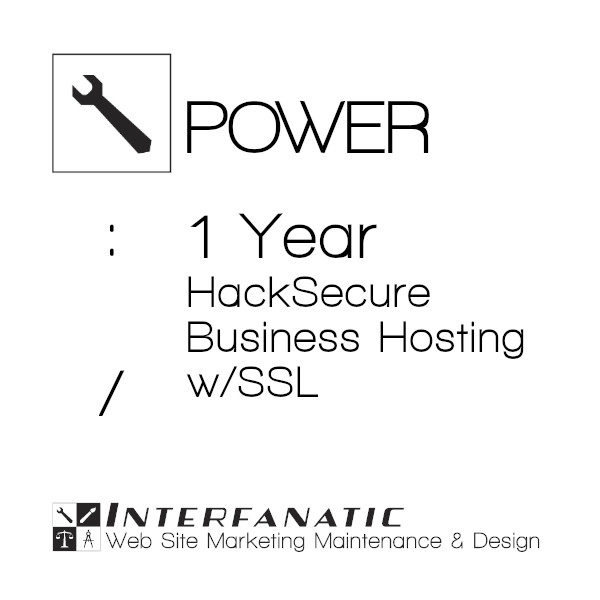 1 Year Interfanatic Power HackSecure Site Hosting