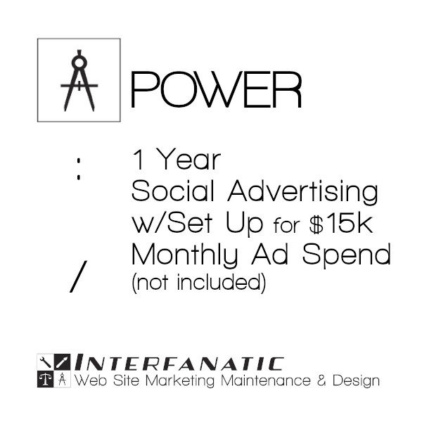 1 Year Interfanatic Power Social Advertising at $15k Monthly Ad Spend (Not Included) with Set Up