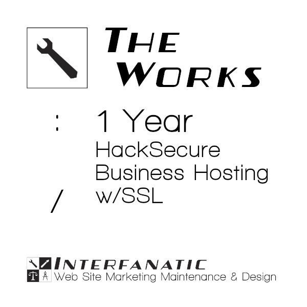 Interfanatic The Works HackSecure Dedicated Business Hosting 1 Year