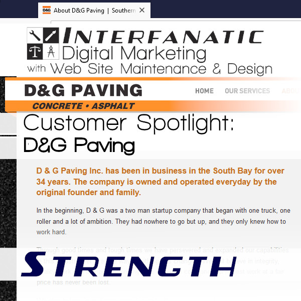 Interfanatic Customer Spotlight: D&G Paving
