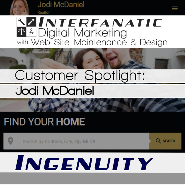 Jodi McDaniel, the Ingenious Co-Buying Real Estate Agent, Coach, Author, and Teacher - through JRMHomeSales.com: Interfanatic Customer Spotlight on Ingenuity, Interfanatic Quality