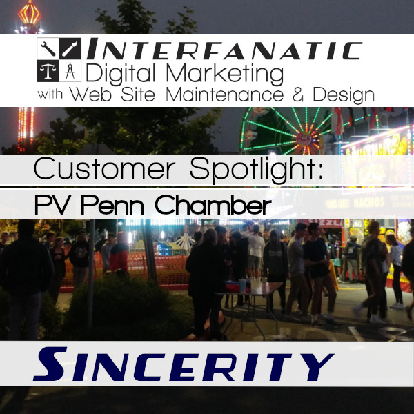 Palos Verdes Peninsula Chamber of Commerce, Customer Spotlight on Sincerity, an Interfanatic Quality
