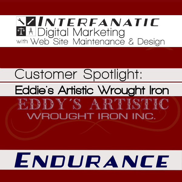 Eddy's Artistic Wrought Iron - for our Customer Spotlight on Endurance, an Interfanatic Quality