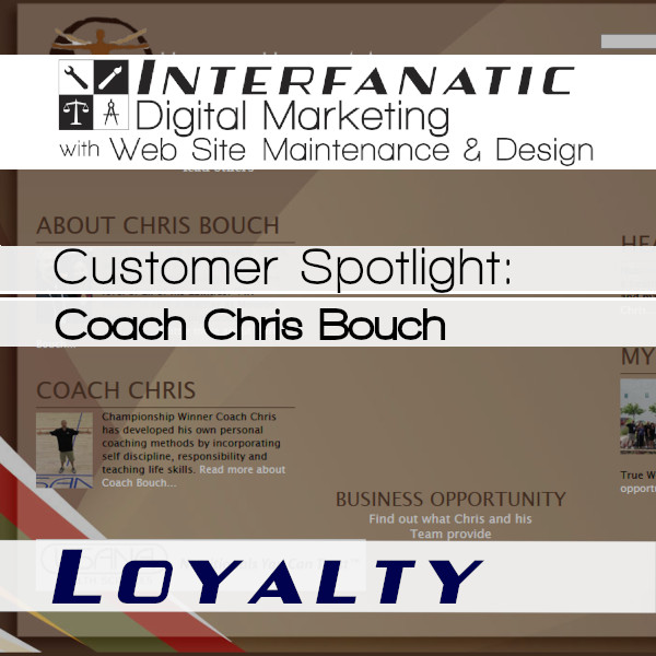 Coach Chris Bouch - Healthy Habits 4 All - for our Customer Spotlight on Loyalty, an Interfanatic Quality