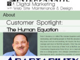 Peter Getoff's The Human Equation - for our Customer Spotlight on Adaptability, an Interfanatic Quality