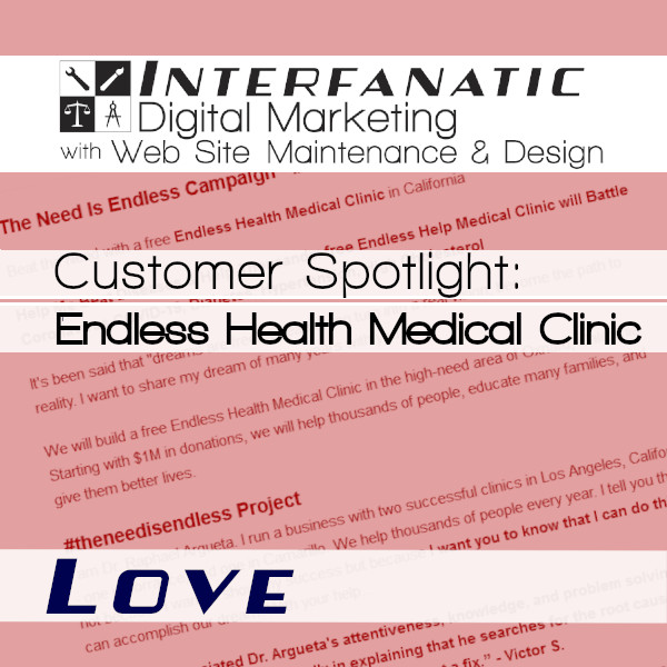 Endless Health Medical Clinic for our Customer Spotlight on Love, an Interfanatic Quality