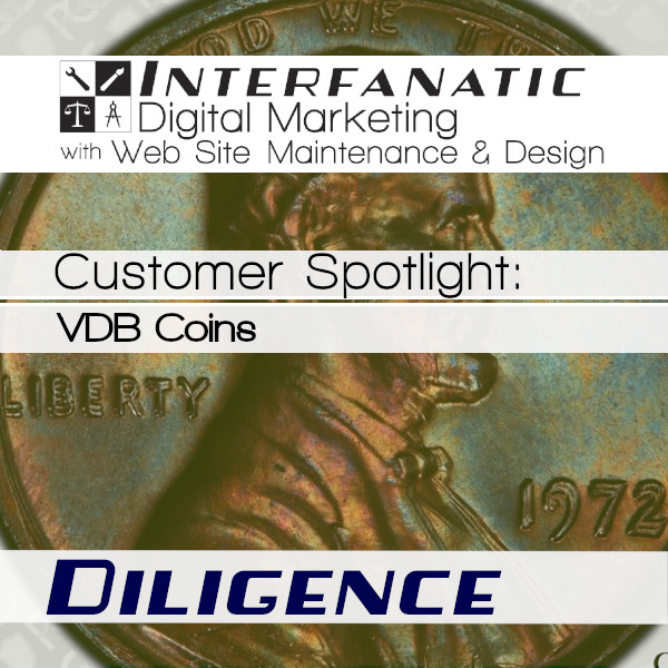 George Huber's VDB Coins, for our Customer Spotlight on Diligence, an Interfanatic Quality