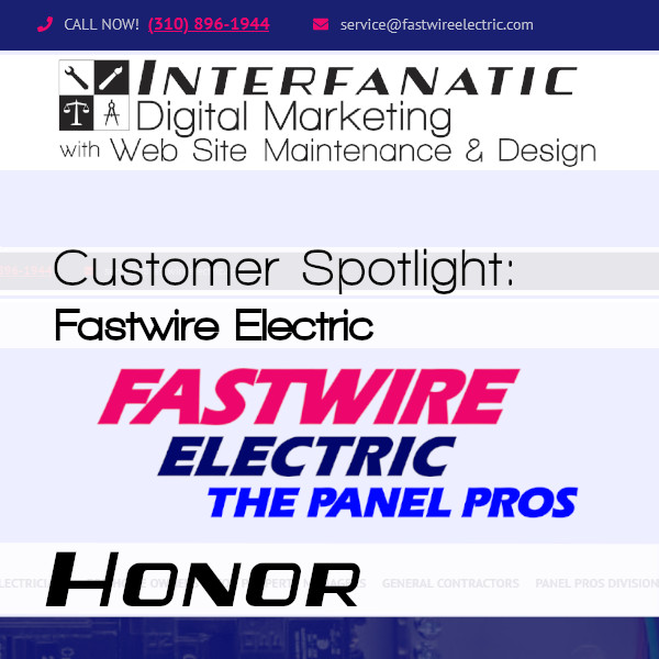 Fastwire Electric, for our Customer Spotlight on Honor, an Interfanatic Quality